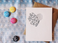 Abstract Letterpress Note Card