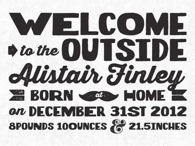 Alistair's Birth Announcement v.1