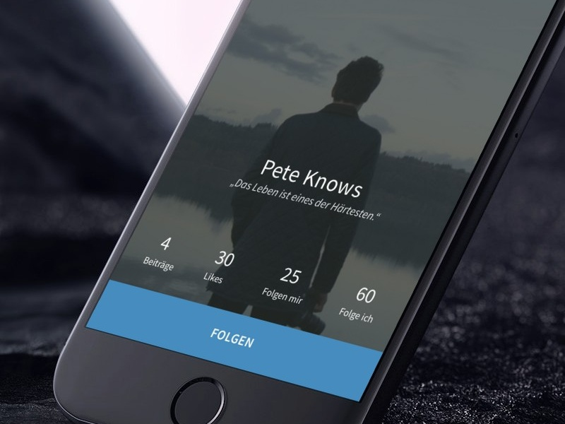 Lean Profile profile ios app ui design