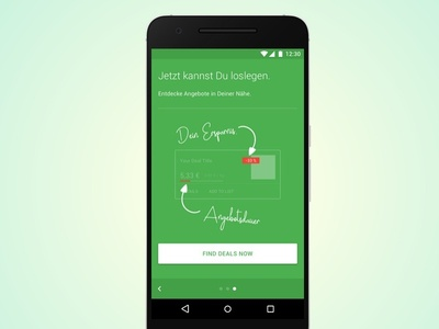 Onboarding green app android onboarding