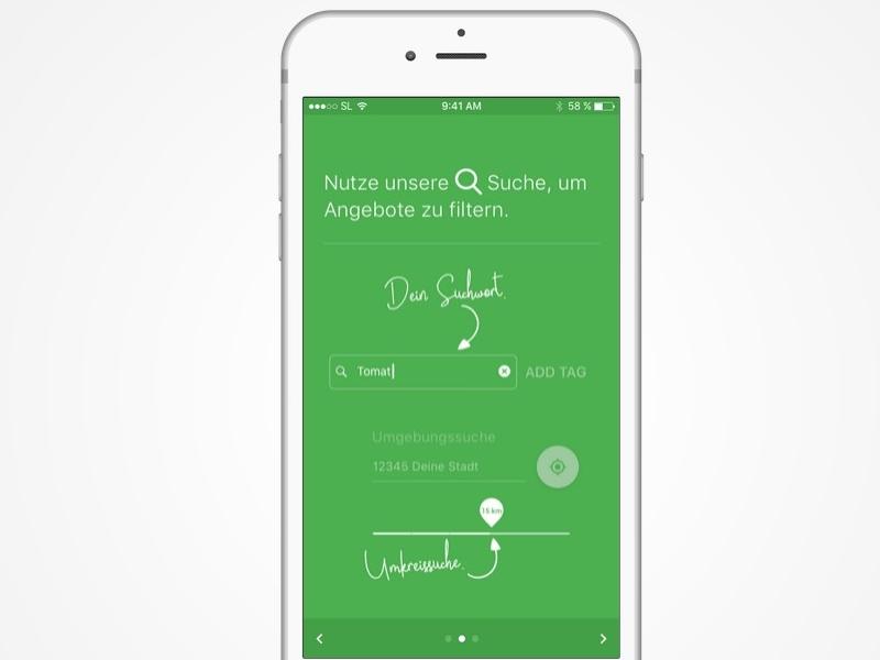 Onboarding iOS App onboarding green food app ios