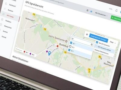 map & gps tracker app light dashboard ui design design