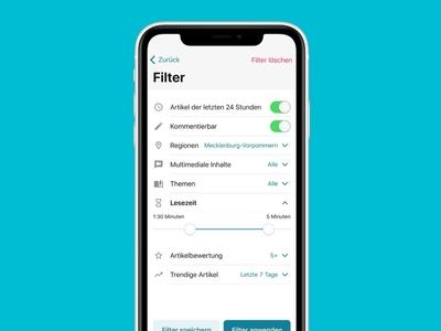 Mobile News Filter