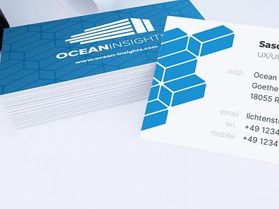 Business Card Design (2019's reBrand) ocean pattern design pattern business card