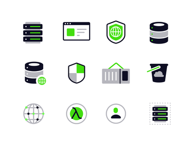 Development Icons profile global bucket ti