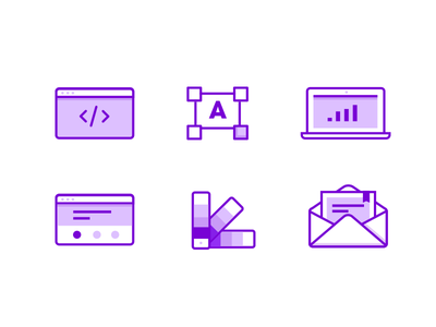 Agency work areas type graphic creation design marketing