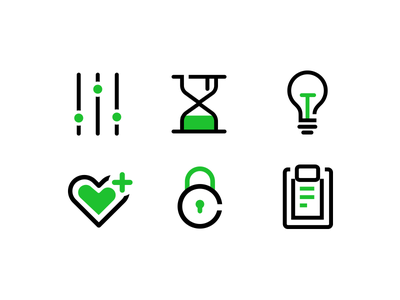 Segment icons rules security confort idea time control