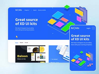 XD Kits app design clean webdesign ui ux website kits xd