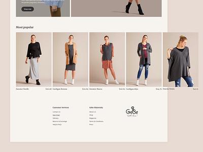 GeBe - Shop popular landingpage homepage clothing ecommerce shop app website clean ux ui