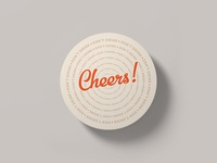 Cheers! Don't drink! Coaster