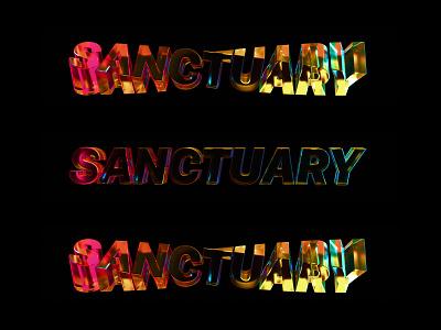 Sanctuary Jelly Text minimal blender3d