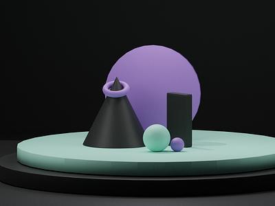 3D Blender Shape Exploration inspiration blender blender3d 3d