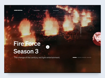 Fire Force - Anime Blog Layout blog layout fire force minimal anime animation ui animation