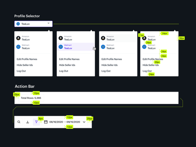 Profile Selection Dropdown & Menu Bar product web dashboard inspiration dropdown profile selection menu bar