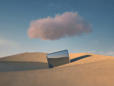 """Stillness"" - 3D Photorealism Experiment micah carroll 3d landscape soft 3d shapes 3d mockup 3d website 3d shapes 3d art blender3d blender octane 3d render cinema4d"