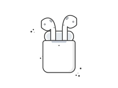 Airpods Illustration - Day 06 / 100