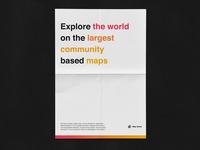 Map Quest Gradient Theme'd Poster