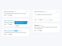 Comment Feed UI Elements.