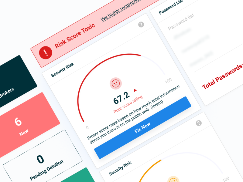 Web Dashboard Exploration sass score security web dashboard product design