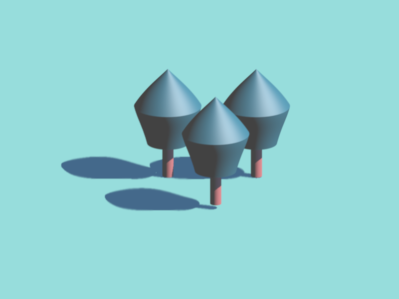 3D Tree Exploration minimal trees 3d art