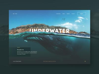 Dive Underwater | Landing page