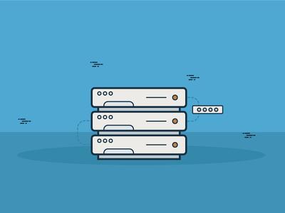 SMTP Server Ilustration transactional email smtp ilustration mailing email marketing mail acumbamail