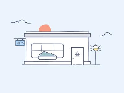 Ilustration shop Dropbox style