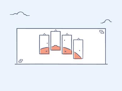Ilustration Gallery Dropbox Style