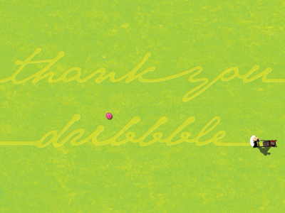 Thank You Dribbble thank you illustration typography