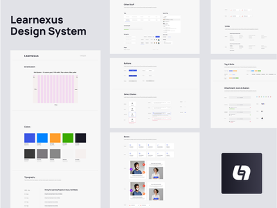 Learnexus - Design System web color branding and identity product design style guide visual identity branding search freelancer interface designsystem uiux ui