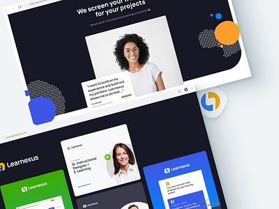 Learnexus.com - Visual Guideline visual identity visual design web interface uiux guides marketing guide branding jobs search job elearning freelancer landing typography logo