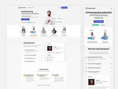 Learnexus - Talents Responsive responsive mobile filter search talent elearning ui web design landing developer facilitator social interface freelancers figma job