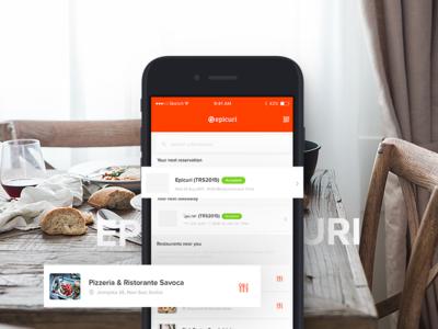 Epicuri App iOS - Food Platform