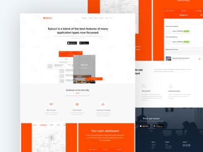 Epicuri Dinner App Web Design