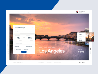 Airlines Landing - Where do you want to explore? travel hotel booking interface ux ui airplane landing web