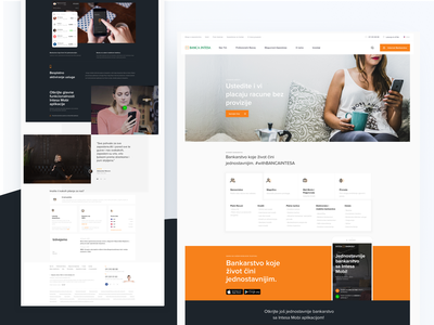 Banca Intesa Web Concept - Zivot cini jednostavnim news mobile interface homepage landing bank finance ux uiux ui web