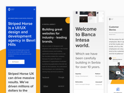 Striped Horse Mobile Responsive - UI/UX Design Agen