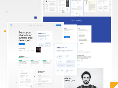 CV Builder landing interface cv resume uiux ui cv resume template cv design web cv