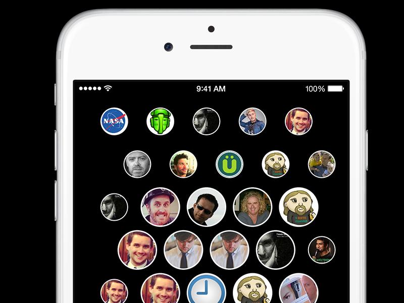 Twitter Bubbles WIP twitter app apple iphone brbubbles bronron wip