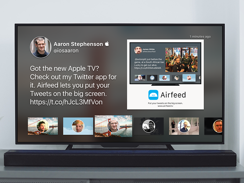Airfeed For Twitter tweet tvos app twitter tv app store apple tv