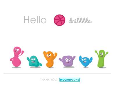 Happy Colours Cheer Dribbble Debut