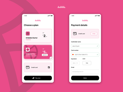 UI Challenge #002 • Credit Card Checkout subscription pricing card credit dribbble ios sketch design daily challenge app ux ui