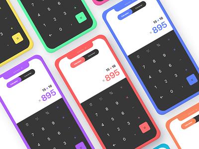 UI Challenge #004 • Calculator mobile flat iphone calculator ios sketch daily challenge app ux ui