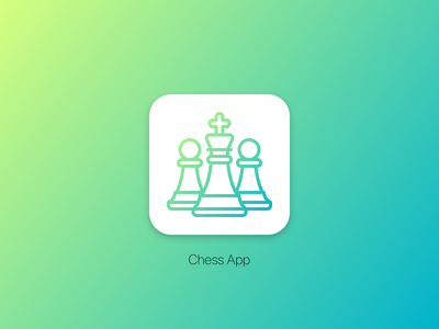 UI Challenge #005 • App Icon mobile icon dailyui 005 chess ios sketch daily challenge app ux ui