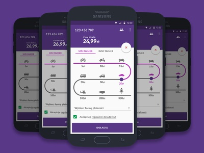 Concept app for mobile operator operator mobile ux ui concept app design material
