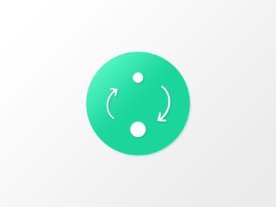 Daily UI Challenge #005 - App Icon shadow dots arrow icon app challenge ui daily