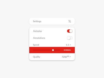 Daily UI Challenge #007 - Settings quality speed settings youtube ux app challenge ui daily