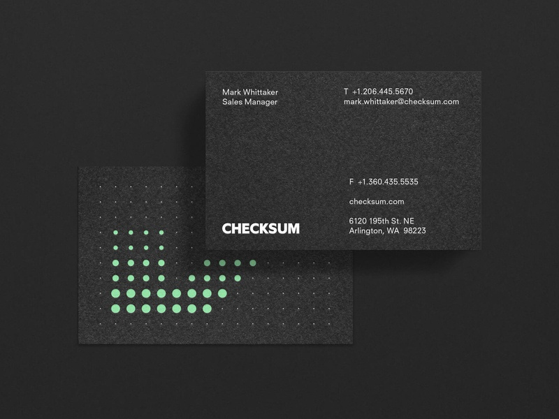 Checksum Business card wordmark identity busines card typography branding