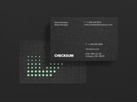 Checksum Business card