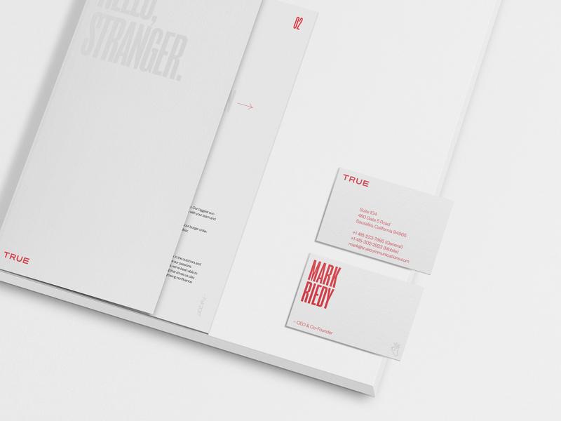 True Communications design identity print packaging busines card branding